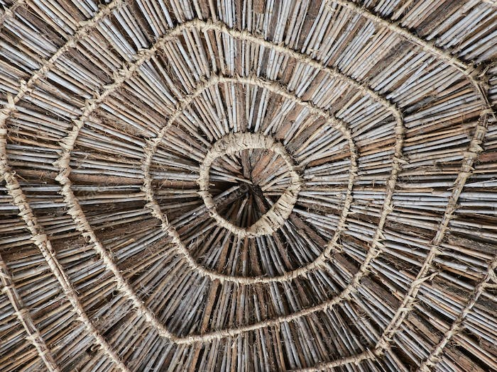 Roof of a house in Senegal, Africa