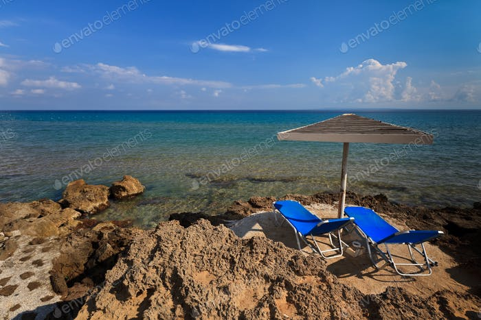 Vromi Porto beach in Zakynthos, Greece