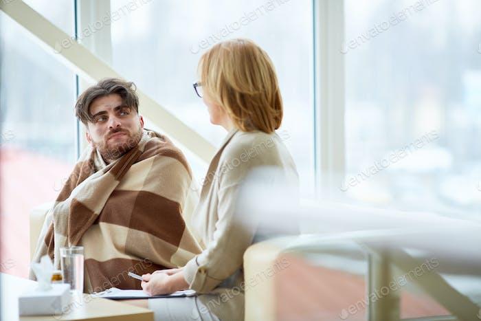 Sitzung mit Psychologin