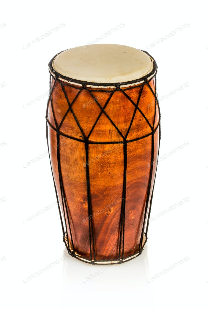 Ethnic drum isolated