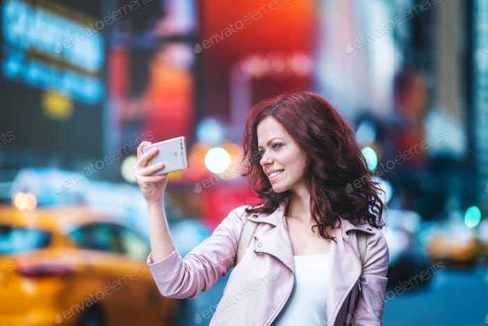 Smiling tourist
