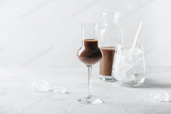Sweet chocolate liqueur