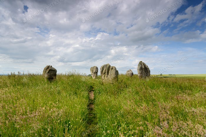 Summer at the Duddo Stone Circle