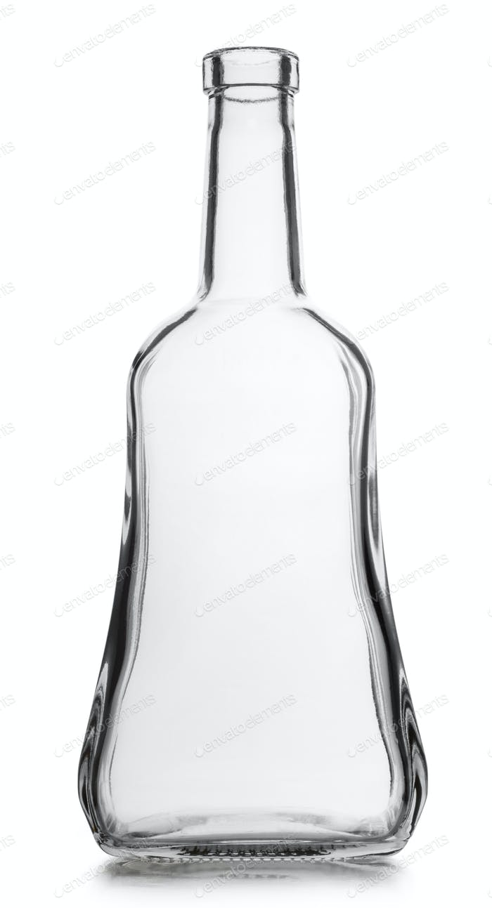 Glass empty bottle