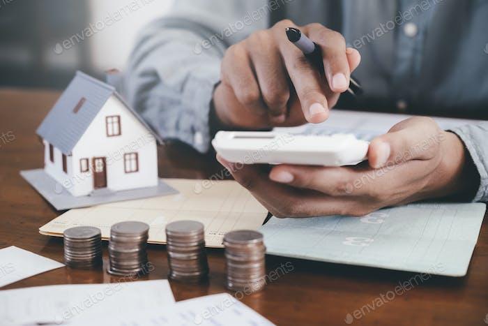 Immobilieninvestitionen und Hypothekenfinanzkonzept.