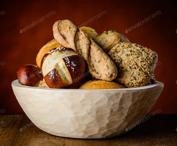 Bowl of Bread and Bun