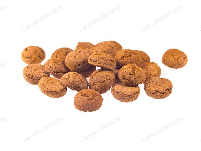 Bündel von Pepernoten Cookies von oben gesehen