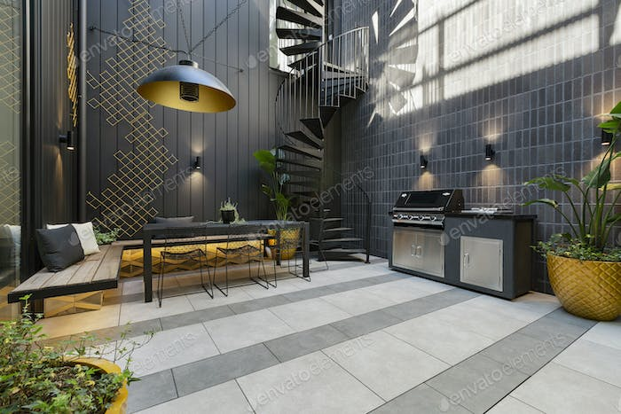 Designer Courtyard Stairs