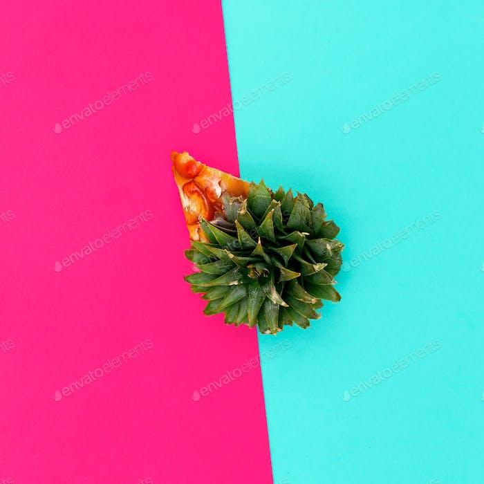 Pineapple Cheesecake. Minimal creative art.