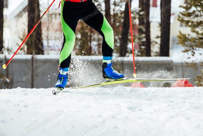 Füße Skifahrer Athlet