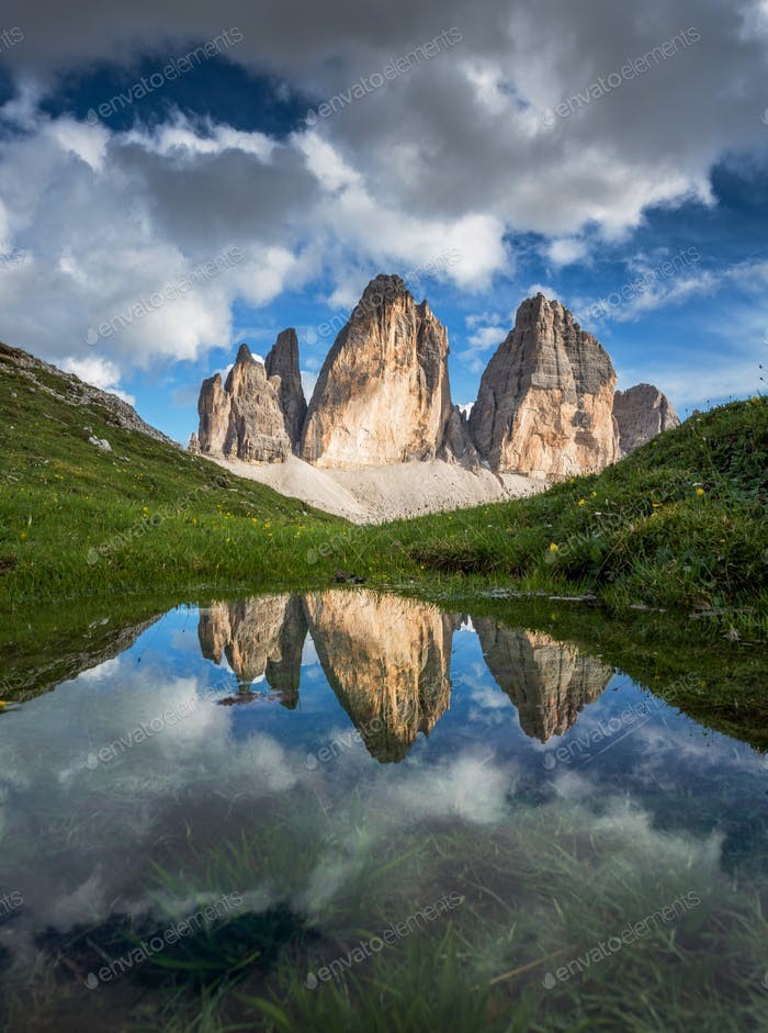 Beautiful mountain landscape in the Dolomites in Italy