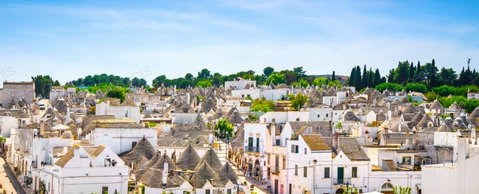 Trulli of Alberobello typical houses. Apulia, Italy.