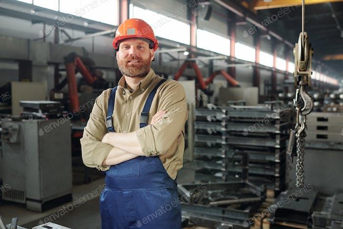 Portrait of metalworking engineer