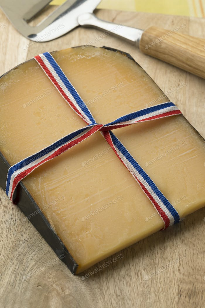 Traditional old Dutch mature Gouda cheese