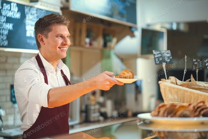 Man in bakery