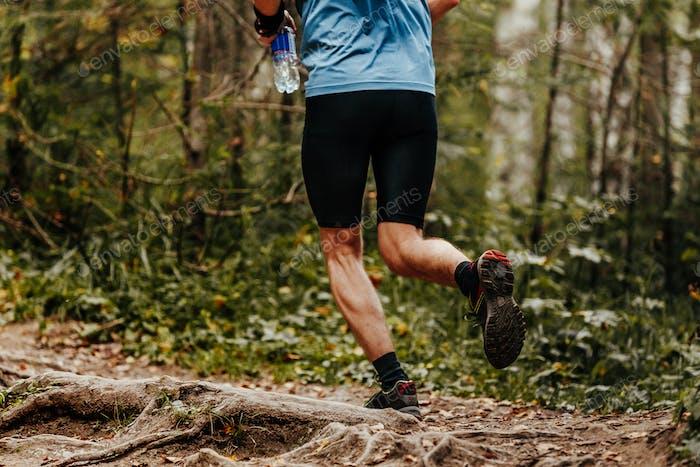 man runner water bottle