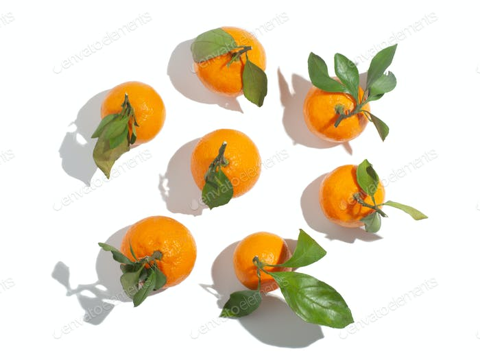 citrus orange ripe tangerine isolated on studio background
