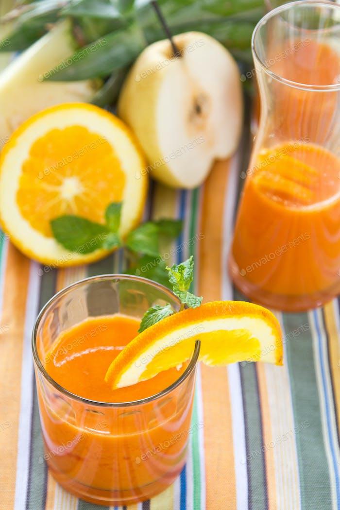 Orange,Pear and Pineapple juice