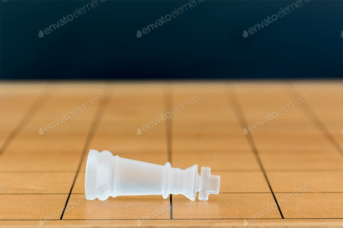 Chess glass on a wood chessboard_-30