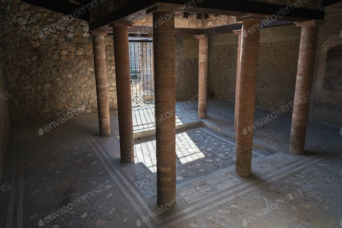 Interior of a house in Pompeii