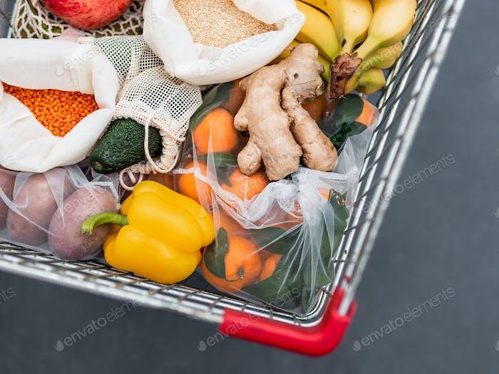 Lebensmittelabfälle, Zero-Waste Einkauf im Supermarkt