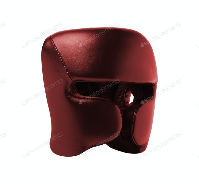 boxing helmet siolated