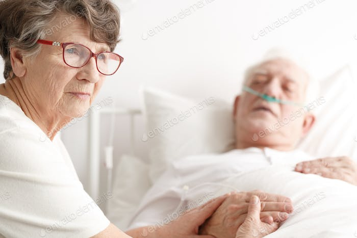 Senior couple in hospital