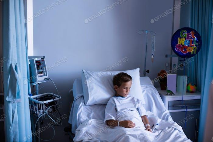Patient resting in ward