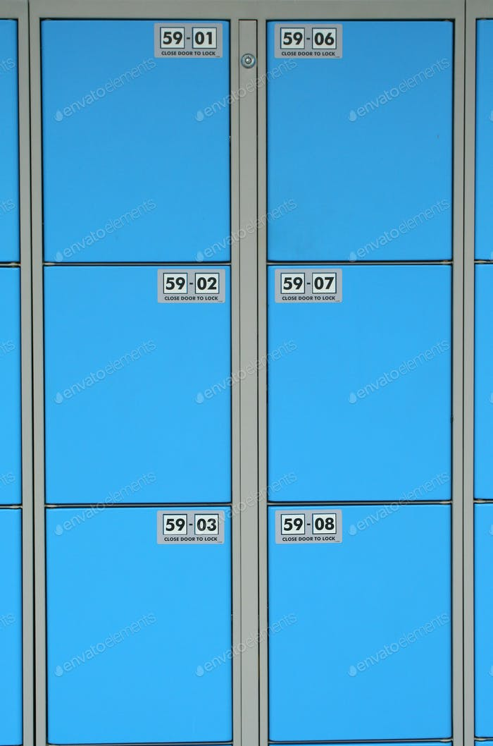 Blue storage locker background