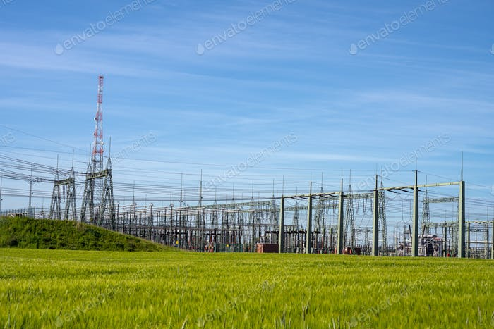High voltage relay station