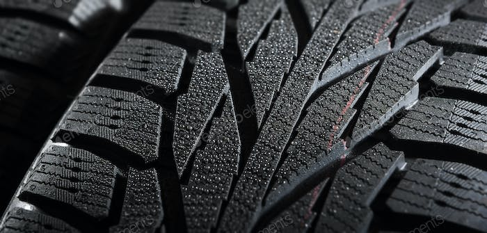 winter tire close-up view