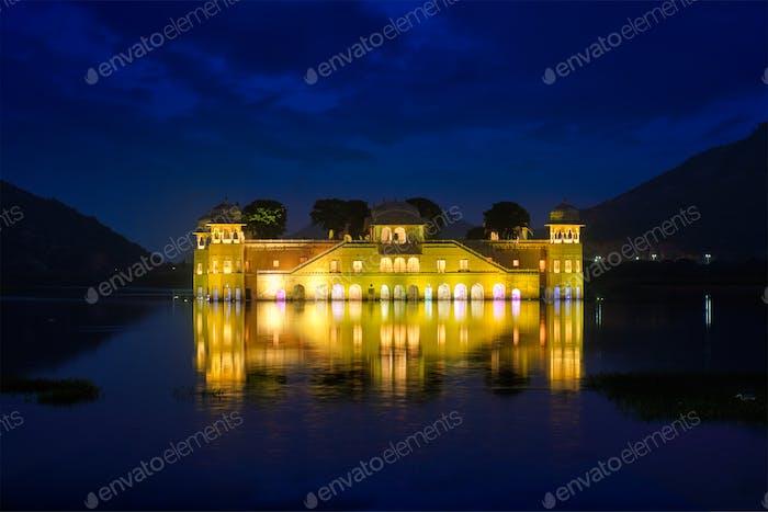 Jal Mahal Wasserpalast. Jaipur, Rajasthan, Indien