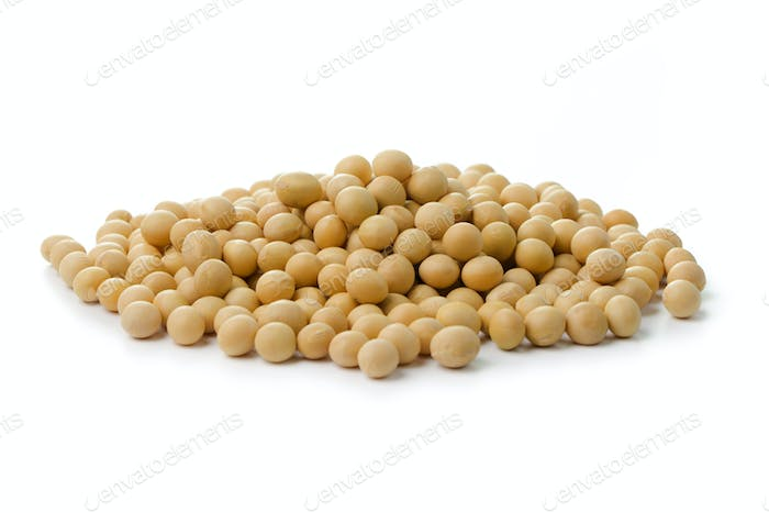 Heap of soya beans