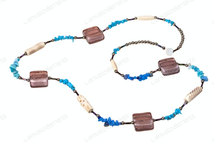 turquoise and glass beads