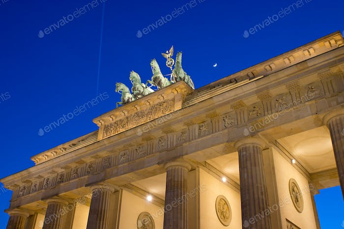 View of the Brandenburger Tor in Berlin