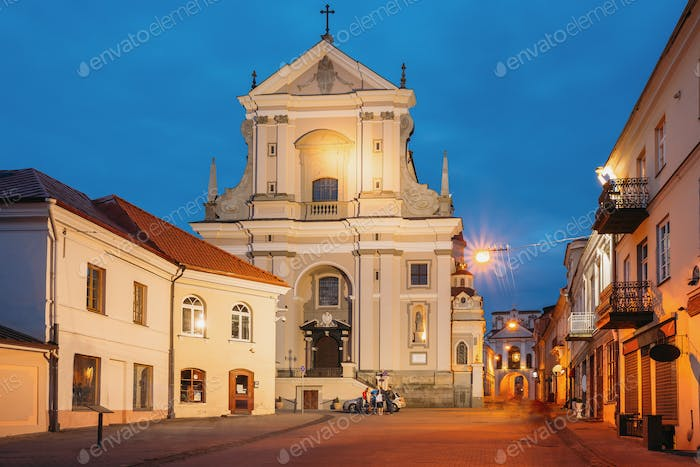 Vilnius Lithuania. Ancient Baroque Catholic Church Of St. Teresa