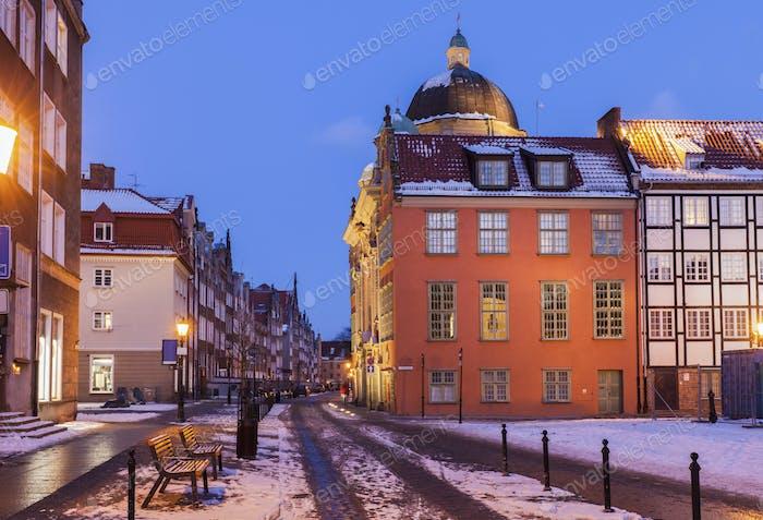 Capilla Real en Gdansk por la Noche