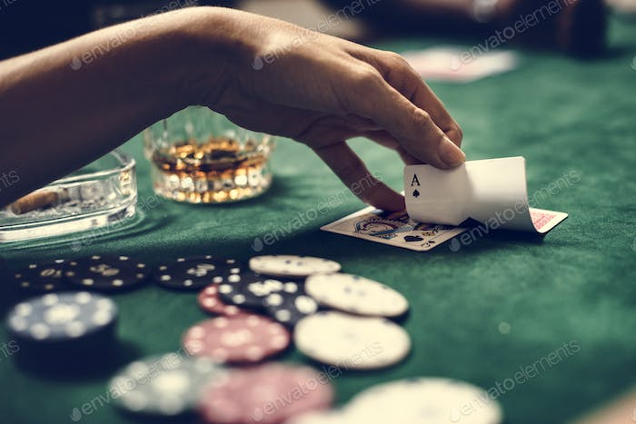 Diverse adults gambling shoot