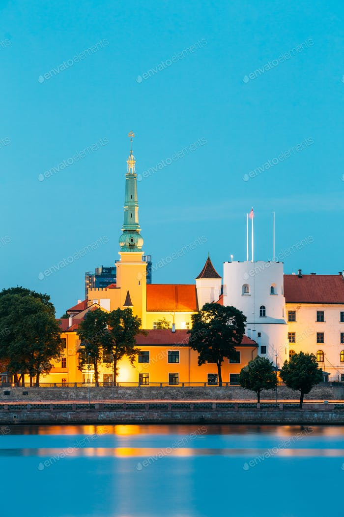 Latvia. Riga Castle. Landmark, President Residence On Embankment
