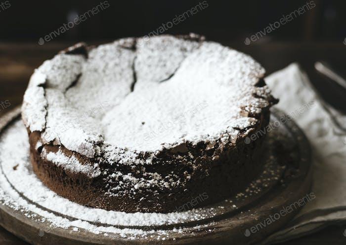 Chocolate fudge cake photography recipe idea