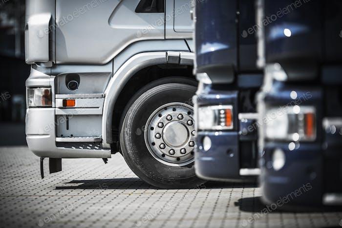 Semi Trucks on the Rest Area