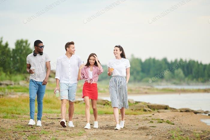 People walking outdoors