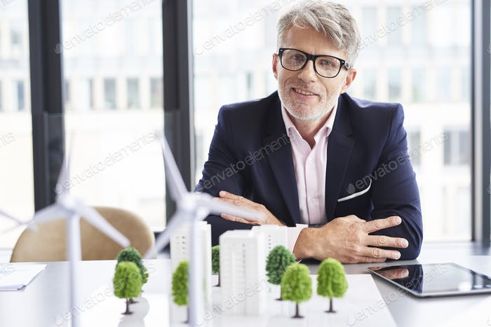 Portrait of senior businessman in the conference room