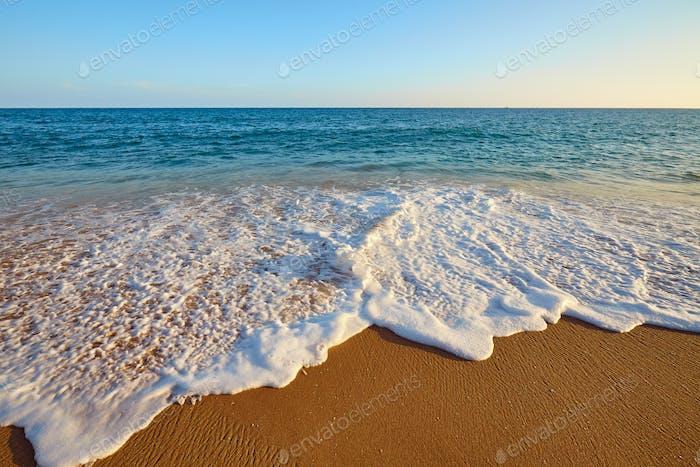 Peaceful ocean sunset.