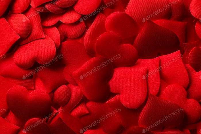 Red hearts background