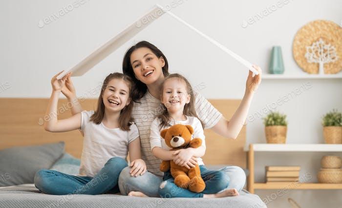 Konzept des Wohnens für junge Familie