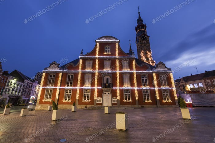 Main Square in Sint Truiden at dawn