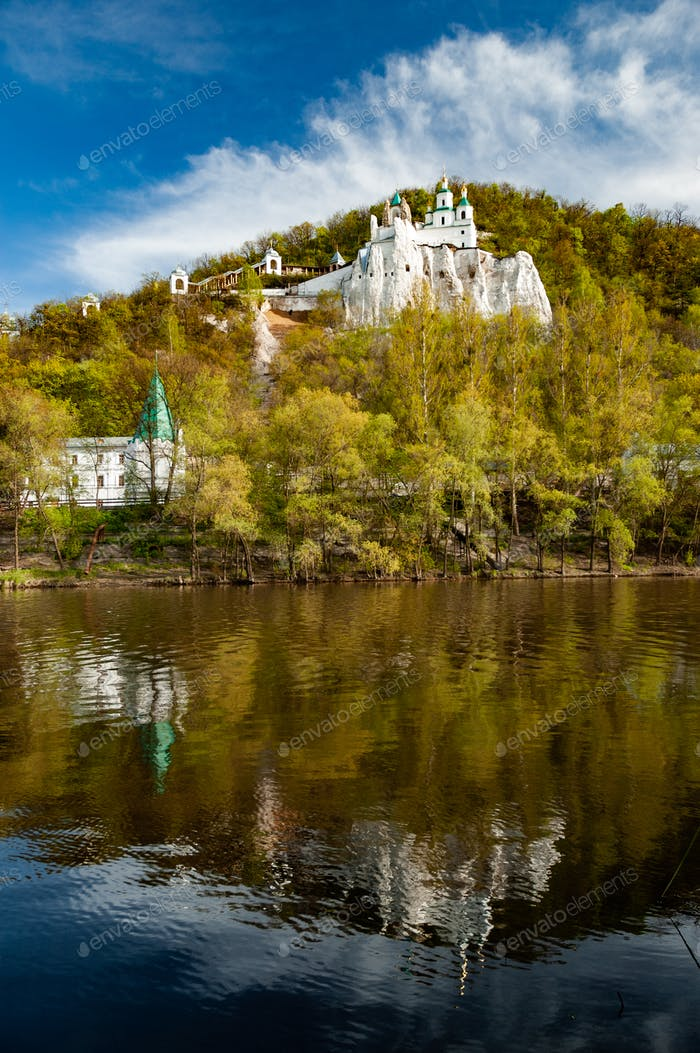 Scenic view of Temple and the Orthodox monastery