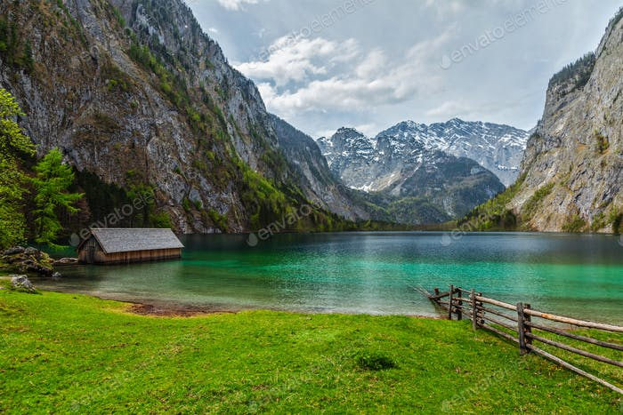 Obersee lake. Bavaria, Germany