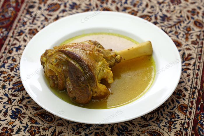 braised lamb shank, iranian cuisine